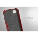SGP iPhone 4, 4S Leather Case Genuine Leather Grip Series [Infinity Red] (SGP06921)